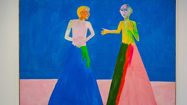 Jiří Sopko: Rozhovor, 1986, 200 x 180 cm, akryl na plátně