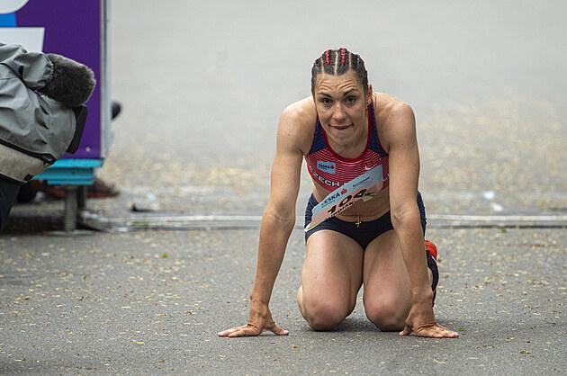 Tereza Ďurdiaková na chodeckém mistrovství Evropy družstev v Poděbradech