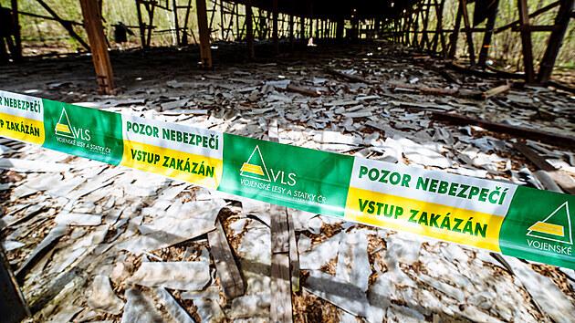 Areál muničních skladů ve Vrběticích. Starají se o něj Vojenské lesy ČR (VLS ČR).