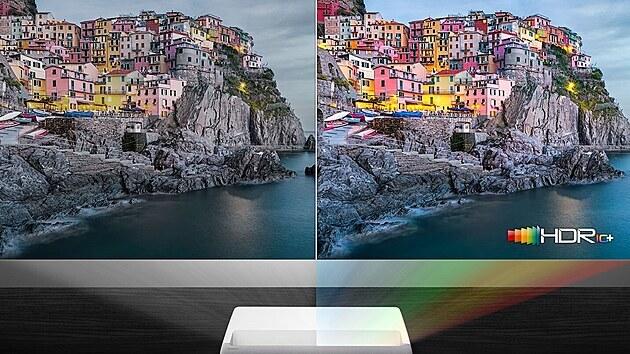 The Premiere promítá ve velkém stylu s rozlišením 4KUHD a podporou dynamického obrazu HDR10+