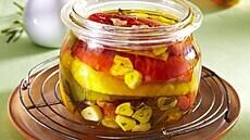 Grilované papriky v oleji