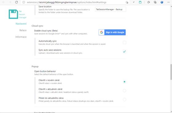 Přihlášení k synchronizace prostřednictvím Google účtu