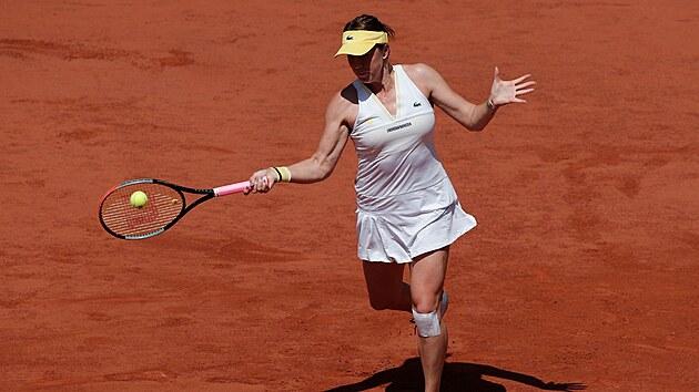 Ruská tenistka Anastasia Pavljučenkovová během semifinále Roland Garros