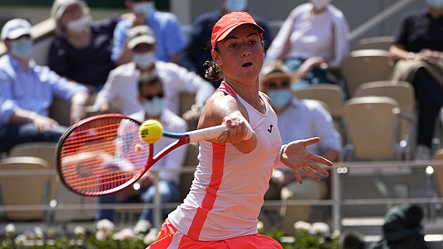 Tamara Zidanšeková ze Slovinska během semifinále Roland Garros