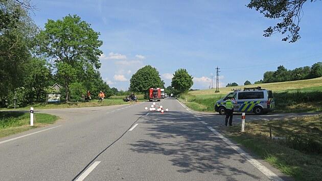 Vážná nehoda se stala na křižovatce v katastru obce Hracholusky.