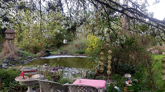 Ukázková přírodní zahrada u Žamberka, kterou zaslala do soutěže Nejkrásnější...