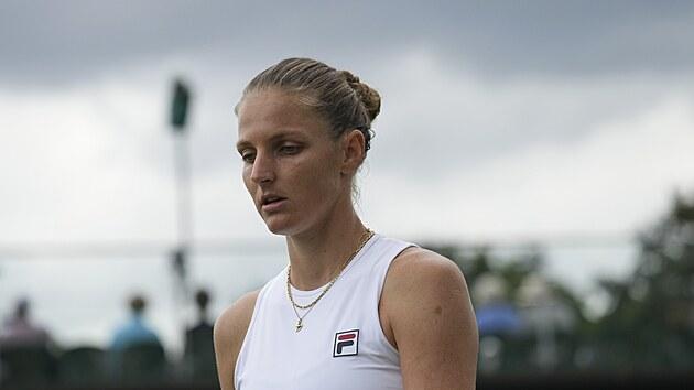 Karolína Plíšková během osmifinále Wimbledonu.