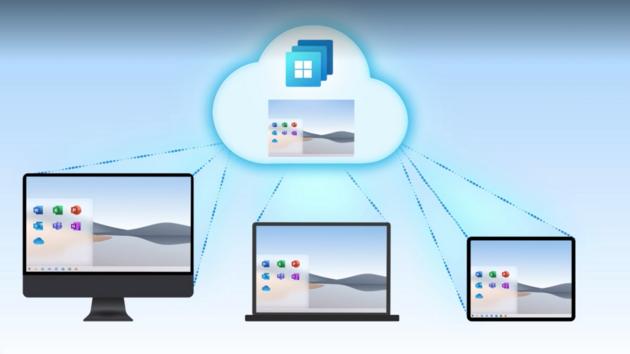 Systém Windows 365 lze streamovat i na tablet.
