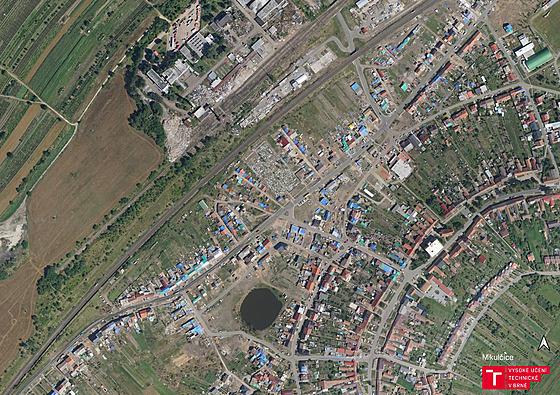 Letecké záběry Mikulčic 22 dní po tornádu.