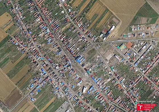 Letecké záběry Moravské Nové Vsi 22 dní po tornádu.