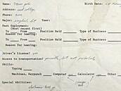 Originální ručně psaná žádost o zaměstnání od  zakladatele společnosti Apple...