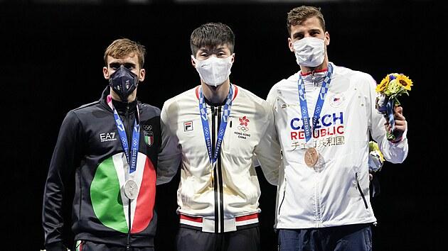 Šermíř Alexander Choupenitch souboj o třetí místo soutěže fleretistů proměnil v jednoznačnou záležitost a slaví olympijskı bronz! (26. července 2021)