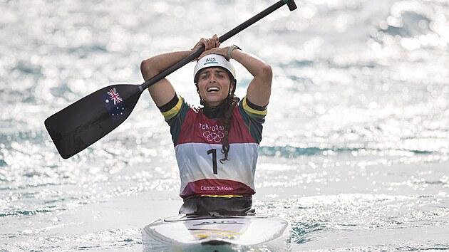 Olympijskou vítězkou se stává Australanka Jessica Foxová. (29. července 2021)