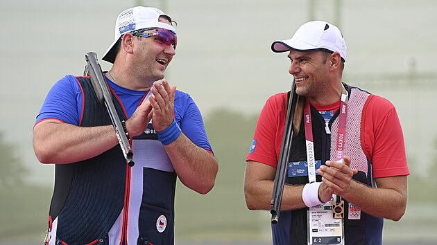 David Kosteleckı a Jiří Lipták (vlevo) na olympiádě v Tokiu 2020 (29. července 2021)
