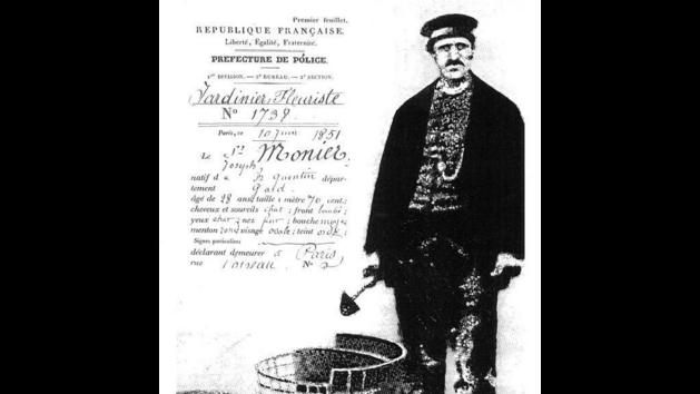 Francouzskı zahradník Joseph Monier, vynálezce železobetonu