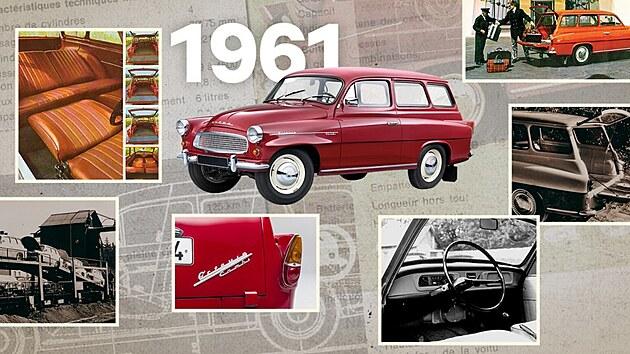 Model OCTAVIA je aktuální bestseller značky ŠKODA. Varianta COMBI navazuje na předchůdkyni, jejíž vıroba odstartovala před 60 lety, v létě 1961. První OCTAVIA COMBI kromě dalších vıhod nabízela i možnost pohodlného přespání.