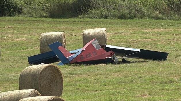 Malı letoun havaroval dopoledne u Jablonné na Příbramsku. (29.7.2021)