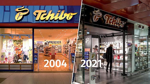 Největší přelom v rozvoji Tchibo v České republice nastal v momentě, kdy se ke kávě přidala i nabídka spotřebního zboží. To se začalo prodávat v roce 2004 současně v prodejních koutcích v maloobchodních řetězcích a ve vlastních obchodech Tchibo.