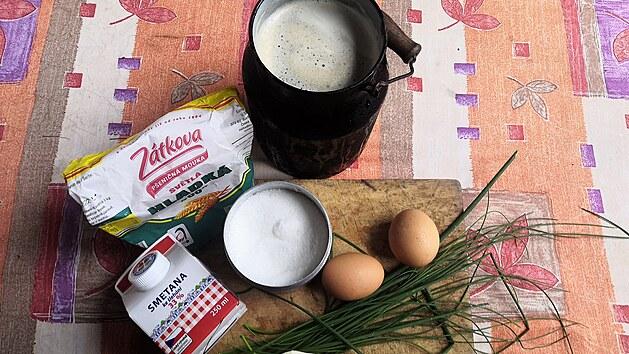 Suroviny na Peškovu pivní polévku
