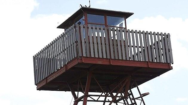 Po dlouhém pátrání se strážní věž podařilo najít v soukromé firmě ve Slaném