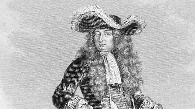 Francouzskı král Ludvík XIV., přezdívanı Král Slunce.