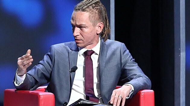 Ivan Bartoš v předvolební debatě Speciál 360°: Hlas lidu na CNN Prima News. (1. září 2021)