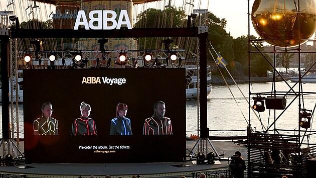 Počítačové podoby členů slavné hudební skupiny ABBA při oznamování vydání nového alba po 40 letech (2. září 2021)