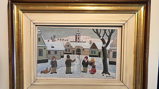 Obraz Josefa Lady Děti v zimě, kterı jde do aukce v Online Gallery (2021)