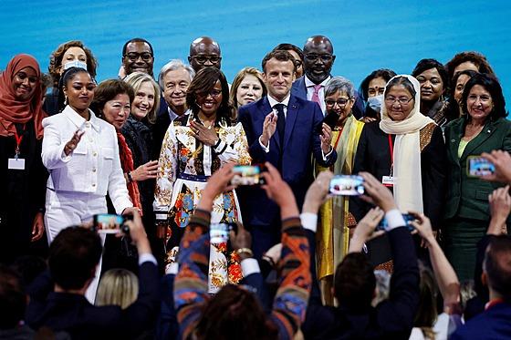 Afghánská politička Habiba Sarabi na fóru Generation Equality Forum v Paříži...