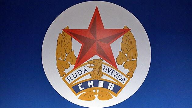 Původní logo fotbalového klubu Rudá hvězda Cheb.