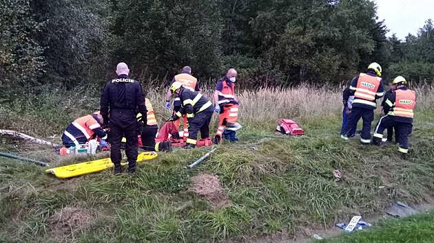 Dopravní nehoda na D6 u Sokolova. (16. září 2021)