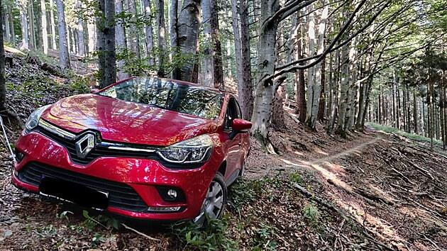 Českı řidič uvízl v lese, spoléhal se na navigaci.
