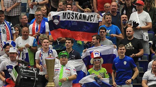 V ostravském hledišti nechyběli ani slovinští fanoušci.