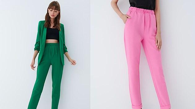 V kolekcích objevíte v hojném zastoupení také kalhoty joggers. Jde o kousek ležérně elegantní, co si rozhodně pro jeho pohodlí zamilujete. 549 Kč