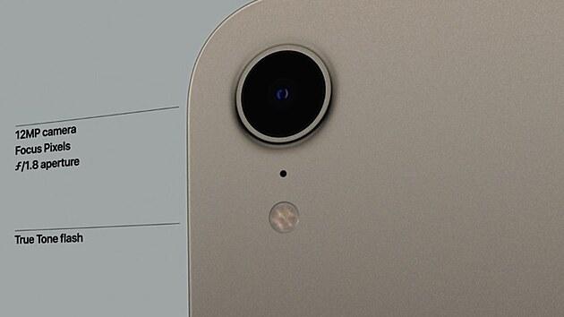 Schopnosti zadní kamerky iPadu mini pro rok 2021