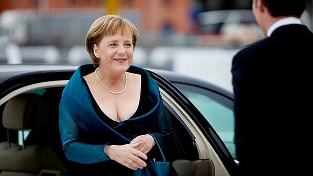 Německá kancléřka Angela Merkelová na slavnostním otevření nové budovy národné opery v Norsku (12. dubna 2008)