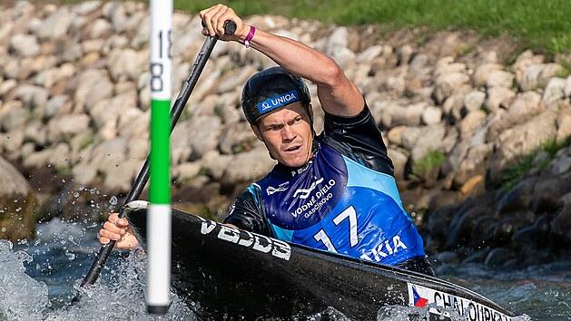 Vodní slalomář Václav Chaloupka během mistrovství světa v Bratislavě