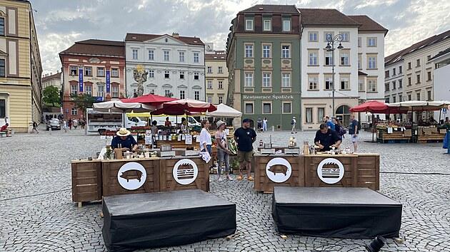 Jan Punčochář a Radek Kašpárek vařili přímo na Zelném trhu v Brně.