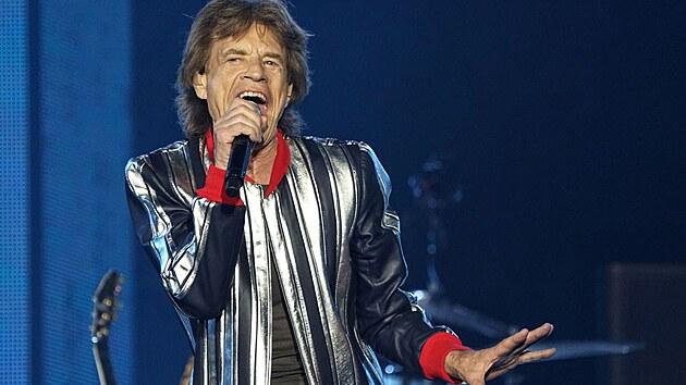 Mick Jaggger z Rolling Stones na zahajovacím koncertu amerického turné No Filter 2021
