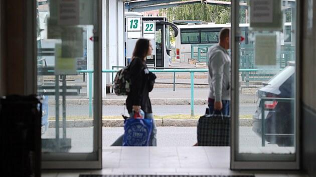 Centrální autobusové nádraží v Plzni. (21. 9. 2021)