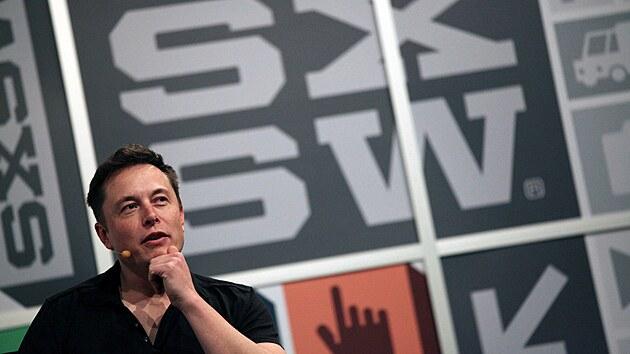 Elon Musk na festivalu v texaském Austinu v roce 2013.