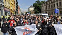 Some 200 right-wing extremists turned out for a June rally of the DSSS in Přerov. Romea claims that at previous demonstrations, police failed to make arrests