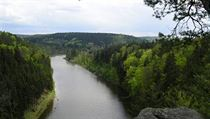 The Vltava River a few kilometers downstream from Hluboká