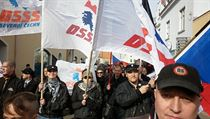 Memebers of the Workers Party for Social Justice (DSSS) and its youth branch (DS) on the march