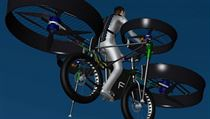 The design of the Flying Bike has been completed with construction of the full-scale machine now underway