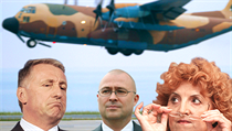 The cabinet of Mirek Topolánek (left) approved a proposal in April 2009 to trade five Czech L-159 fighters for a CASA transport plane, with another three bought well above the market price. Vlasta Parkanová (right) signed the CASA deal on the day her suc