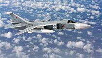 Ruskı bombardér Suchoj Su-24M.