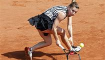 Simona Halepová na French Open.