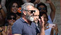 Režisér a herec Mel Gibson arrives přijel na pláž Lido prezentovat svůj film.