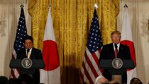 Donald Trump a Shinzo Abe